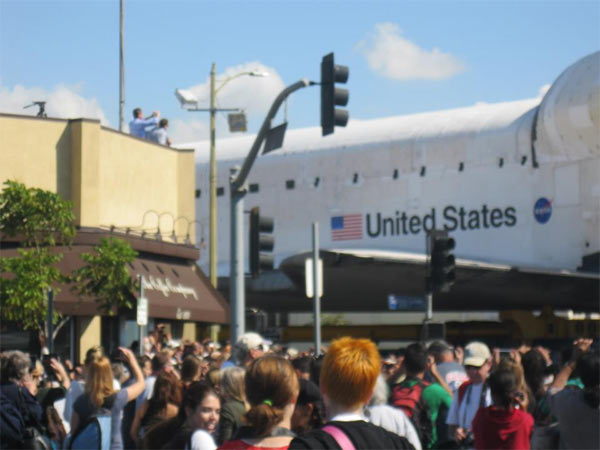 ABC7 viewer Lou Bane posted this photo on our Facebook page of space shuttle Endeavour on Friday, Oct. 12, 2012. &#160;Send us your shuttle pictures and video to video@abc7.com or post them to the ABC7 Facebook page. You can also Tweet us @abc7 with #SpotTheShuttle. <span class=meta>(ABC7 viewer Lou Bane)</span>