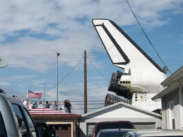 ABC7 viewer Sherry Edwards posted this photo on our Facebook page of space shuttle Endeavour on Friday, Oct. 12, 2012. &#160;Send us your shuttle pictures and video to video@abc7.com or post them to the ABC7 Facebook page. You can also Tweet us @abc7 with #SpotTheShuttle. <span class=meta>(ABC7 viewer Sherry Edwards)</span>
