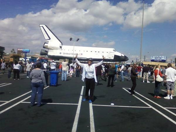 ABC7 viewer Venus Jewett posted this photo on our Facebook page of space shuttle Endeavour on Friday, Oct. 12, 2012. &#160;Send us your shuttle pictures and video to video@abc7.com or post them to the ABC7 Facebook page. You can also Tweet us @abc7 with #SpotTheShuttle. <span class=meta>(ABC7 viewer Venus Jewett)</span>