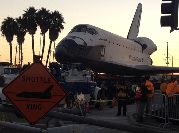 ABC7 viewer Herbert Pineda posted this photo on our Facebook page of space shuttle Endeavour on Friday, Oct. 12, 2012. &#160;Send us your shuttle pictures and video to video@abc7.com or post them to the ABC7 Facebook page. You can also Tweet us @abc7 with #SpotTheShuttle. <span class=meta>(ABC7 viewer Herbert Pineda)</span>