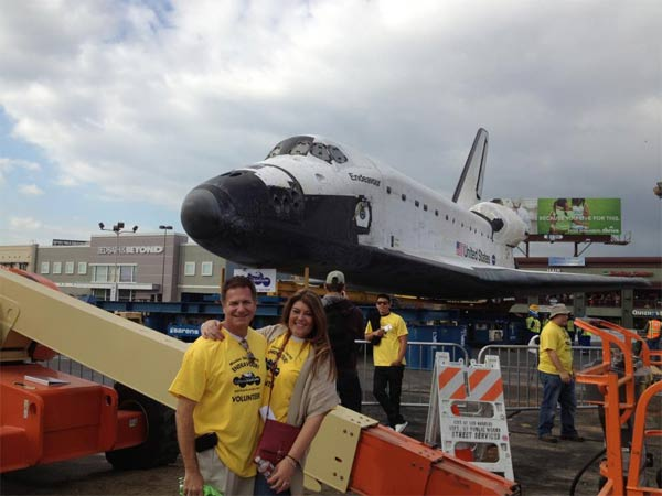 "<div class=""meta image-caption""><div class=""origin-logo origin-image ""><span></span></div><span class=""caption-text"">ABC7 viewer Christa Haggai Ramey posted this photo on our Facebook page of space shuttle Endeavour on Friday, Oct. 12, 2012.  Send us your shuttle pictures and video to video@abc7.com or post them to the ABC7 Facebook page. You can also Tweet us @abc7 with #SpotTheShuttle. (ABC7 viewer Christa Haggai Ramey)</span></div>"