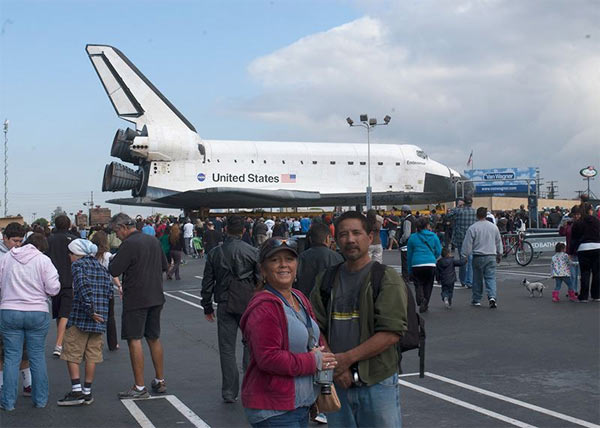 "<div class=""meta image-caption""><div class=""origin-logo origin-image ""><span></span></div><span class=""caption-text"">ABC7 viewer Jeff Tsuno posted this photo on our Facebook page of space shuttle Endeavour on Friday, Oct. 12, 2012.  Send us your shuttle pictures and video to video@abc7.com or post them to the ABC7 Facebook page. You can also Tweet us @abc7 with #SpotTheShuttle. (ABC7 viewer Jeff Tsuno)</span></div>"