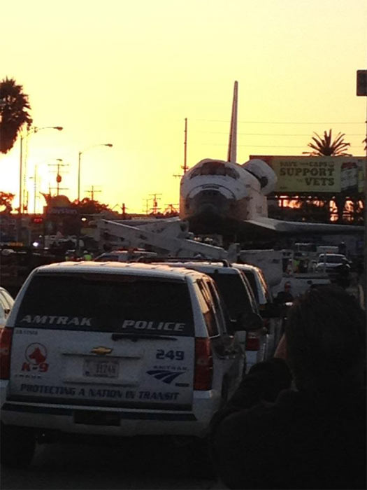 ABC7 viewer Sandra Yue posted this photo on our Facebook page of space shuttle Endeavour on Friday, Oct. 12, 2012. &#160;Send us your shuttle pictures and video to video@abc7.com or post them to the ABC7 Facebook page. You can also Tweet us @abc7 with #SpotTheShuttle. <span class=meta>(ABC7 viewer Sandra Yue)</span>