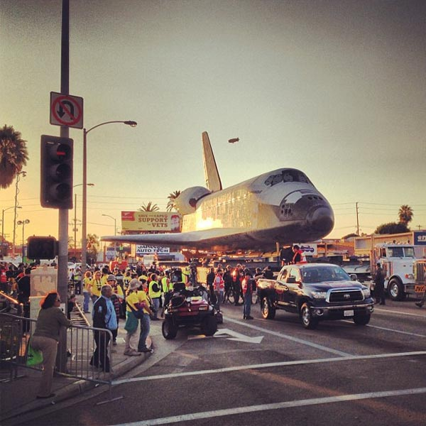 ABC7 viewer Manny Garcia Jr. posted this photo on our Facebook page of space shuttle Endeavour on Saturday, Oct. 13, 2012. &#160;Send us your shuttle pictures and video to video@abc7.com or post them to the ABC7 Facebook page. You can also Tweet us @abc7 with #SpotTheShuttle. <span class=meta>(ABC7 viewer Manny Garcia Jr.)</span>