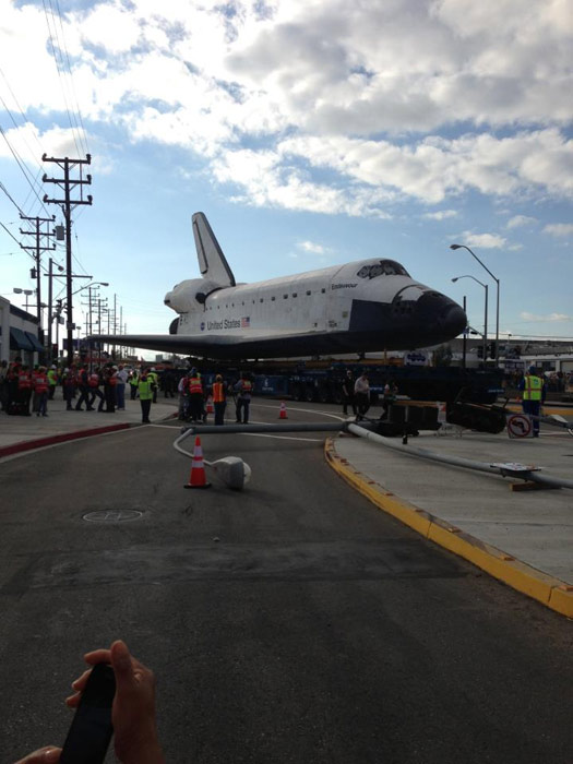 ABC7 viewer David H. Kishimoto posted this photo on our Facebook page of space shuttle Endeavour on Friday, Oct. 12, 2012. &#160;Send us your shuttle pictures and video to video@abc7.com or post them to the ABC7 Facebook page. You can also Tweet us @abc7 with #SpotTheShuttle. <span class=meta>(ABC7 viewer David H. Kishimoto)</span>