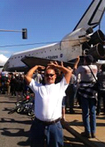 An ABC7 viewer posted this photo on our Facebook page of space shuttle Endeavour on Friday, Oct. 12, 2012. &#160;Send us your shuttle pictures and video to video@abc7.com or post them to the ABC7 Facebook page. You can also Tweet us @abc7 with #SpotTheShuttle. <span class=meta>(ABC7 viewer)</span>