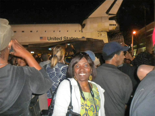 ABC7 viewer Teresa Leonard posted this photo on our Facebook page of space shuttle Endeavour on Saturday, Oct. 13, 2012. &#160;Send us your shuttle pictures and video to video@abc7.com or post them to the ABC7 Facebook page. You can also Tweet us @abc7 with #SpotTheShuttle. <span class=meta>(ABC7 viewer Teresa Leonard)</span>