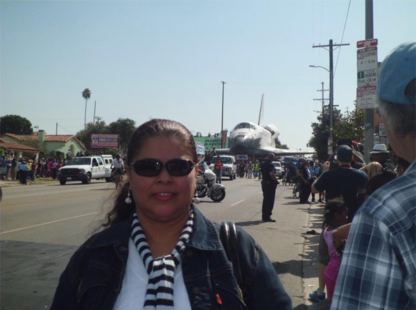 ABC7 viewer Reyba Martinez posted this photo on our Facebook page of space shuttle Endeavour on Saturday, Oct. 13, 2012. &#160;Send us your shuttle pictures and video to video@abc7.com or post them to the ABC7 Facebook page. You can also Tweet us @abc7 with #SpotTheShuttle. <span class=meta>(ABC7 viewer Reyba Martinez)</span>