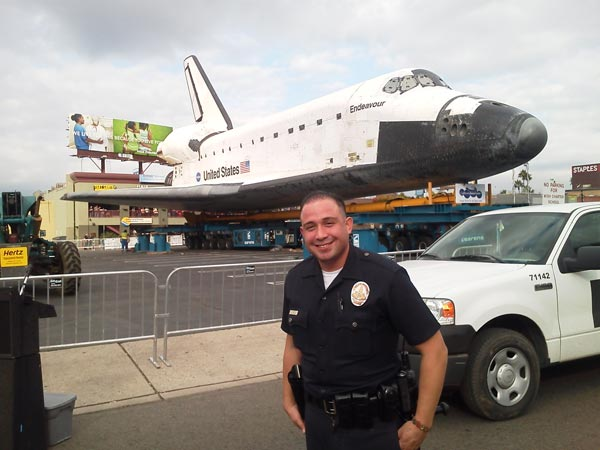 On Sunday, Oct. 14, 2012, ABC7 viewer Kevin Oules sent in this photo of space shuttle Endeavour.