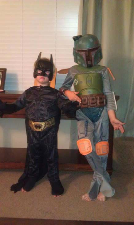 ABC7 viewer Heather Mixon Stokes sent us this photo of these two cool guys in action.&#160;Post your Halloween pictures on our ABC7 Facebook page. <span class=meta>(KABC Photo&#47; ABC7 viewer Heather Mixon Stokes)</span>