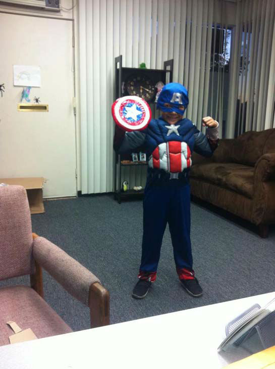 ABC7 viewer Amy G. Morales shared this photo of Marvel Comic&#39;s superhero Captain America with us.&#160;Post your Halloween pictures on our ABC7 Facebook page. <span class=meta>(KABC Photo&#47; ABC7 viewer Amy G. Morales)</span>