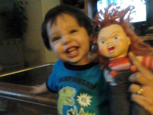 "<div class=""meta ""><span class=""caption-text "">ABC7 viewer Yolanda Rodriguez sent us this photo of a brave Adam Niccolo Rodriguez posing with a Chucky doll. Post your Halloween pictures on our ABC7 Facebook page. (KABC Photo/ ABC7 viewer Yolanda Rodriguez)</span></div>"