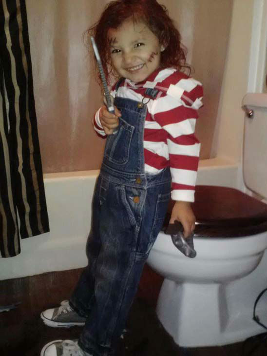 ABC7 viewer Marie Pe&#241;a sent us this photo of her daughter as Chucky.&#160;Post your Halloween pictures on our ABC7 Facebook page. <span class=meta>(KABC Photo&#47; ABC7 viewer Marie Pe&#241;a)</span>
