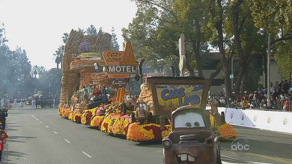 Disneyland Resort&#39;s float passed crowds on Orange Grove Boulevard during the 124th annual Rose Parade in Pasadena Jan. 1, 2013. <span class=meta>(KABC Photo)</span>