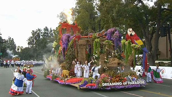 "<div class=""meta ""><span class=""caption-text "">Aguiluchos Marching Band marched through Orange Grove Boulevard during the 124th annual Rose Parade in Pasadena Jan. 1, 2013. (KABC Photo)</span></div>"