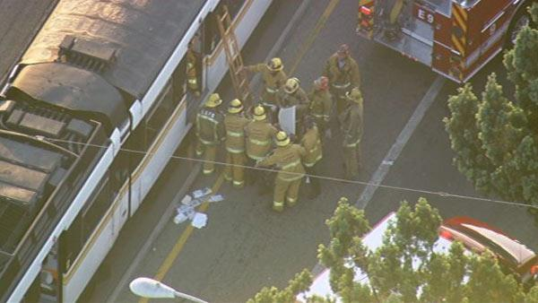 Metro Blue Line train collides with MTA bus
