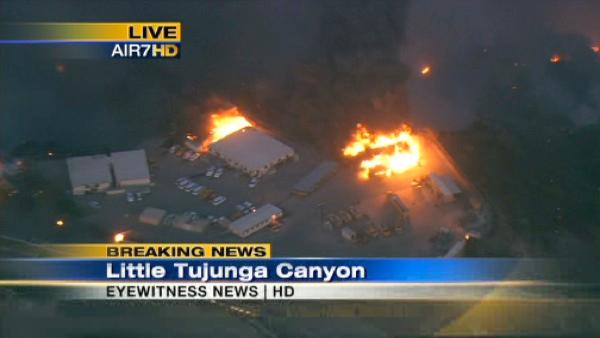 Little Tujunga Canyon fire