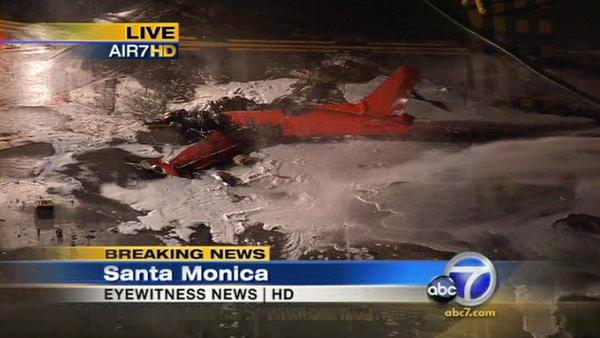 Slideshow: Santa Monica plane crash kills 2
