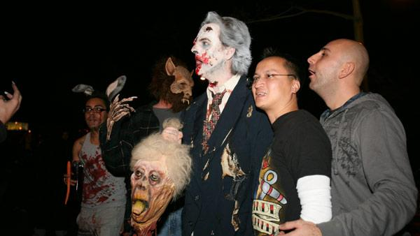 Revelers in costumes at 2009 West Hollywood Halloween Carnaval