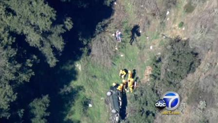 Car falls 100 feet in Angeles National Forest