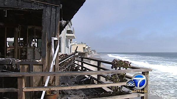 Ricki Lake's Malibu home caught fire, forcing her, her two sons and their dog to evacuate Saturday, Sept. 18, 2010.