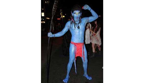 Revelers in costumes at 2010 West Hollywood Halloween Carnaval