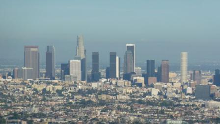 A skyline view of downtown Los Angeles is seen in this undated photo.