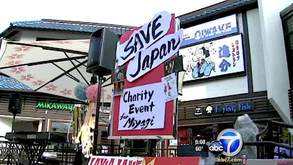 Fundraiser in LA's Little Tokyo for Japan