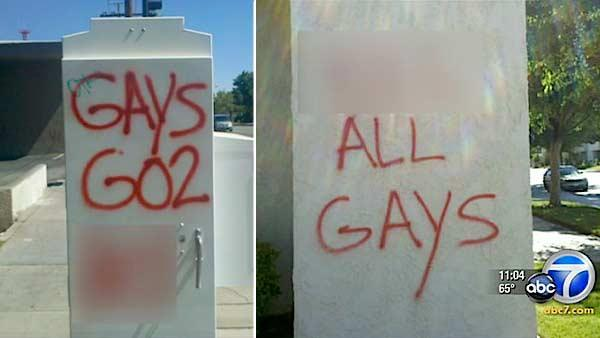 Anti-gay messages spray painted in Lancaster