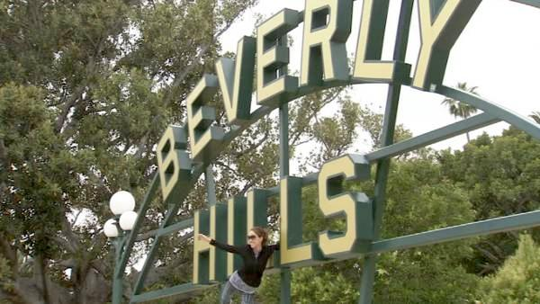 The original Beverly Hills sign on Santa Monica Boulevard.