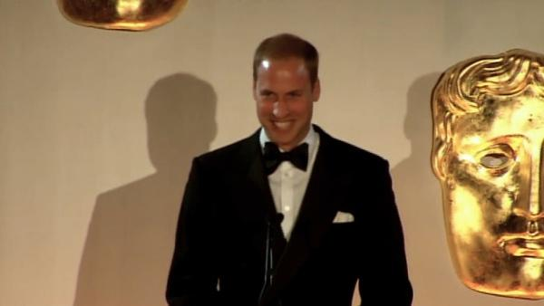 Prince William gives speech at BAFTA event