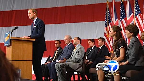 William, Kate meet vets in Culver City