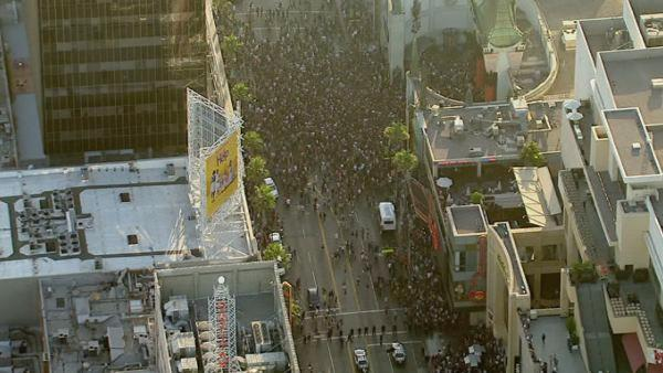 There was chaos on Hollywood Boulevard, as hundreds of people clashed with LAPD on Wednesday, July 27, 2011.
