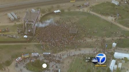 More than a dozen people were taken into custody at a sold-out rave in downtown Los Angeles Saturday, Aug. 6, 2011.