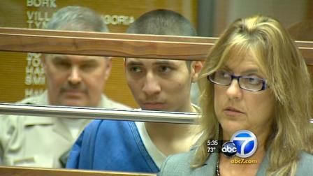 Jose Beltran is seen at an arraignment hearing in the shooting death of Juan David Vasquez Loma, 25, in Silver Lake.