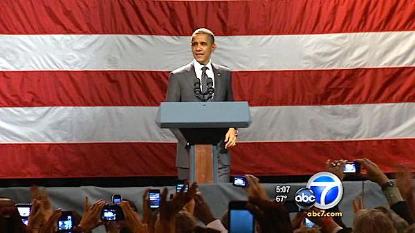 Obama to arrive in LA Monday for fundraiser
