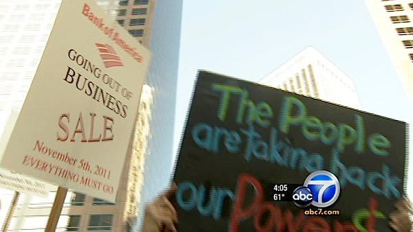 LA protesters march on 'Bank Transfer Day'