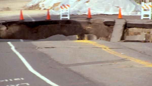 A sink hole in San Pedro is getting worse and more steps are being taken to keep the public safe.