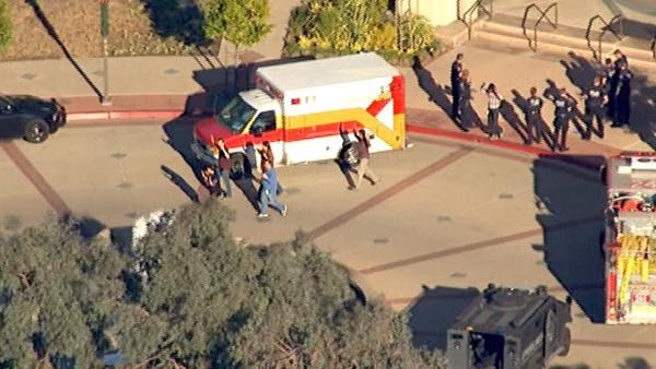 A shooting broke out at an Irwindale office building, prompting the evacuation of nearby schools Friday, Dec. 16, 2011.