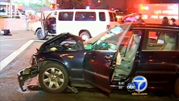 Church van hit by suspected drunk driver