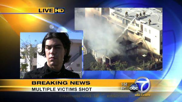 Resident of Hollywood house in flames talks