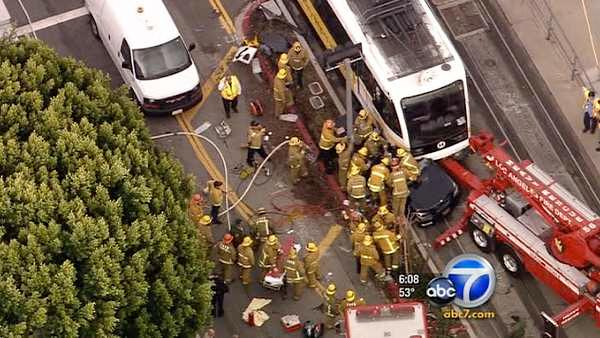Expo Line train crash leaves 6 injured