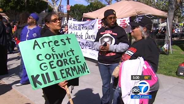 Protesters march in LA for Trayvon Martin