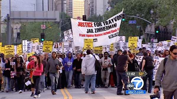 'Million Hoodie March' in downtown LA