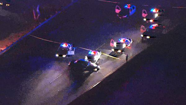 101 Freeway shootout kills pursuit suspect
