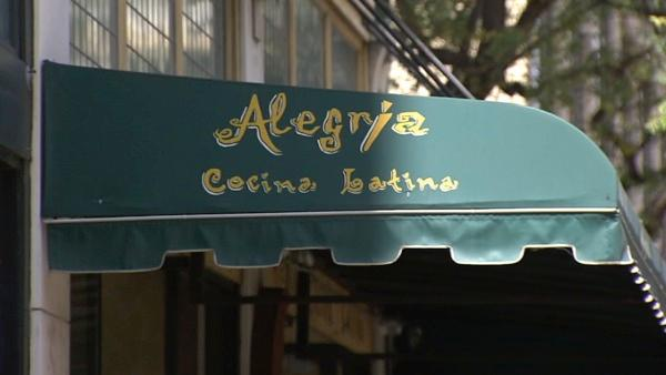 Around the corner is Pine Avenue, where you'll find just about any type of food you want. For example, there's Alegria Cocina Latina.