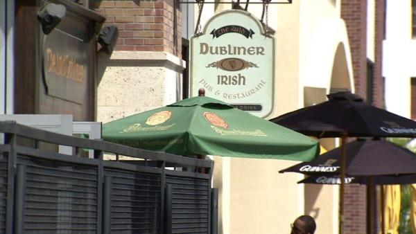 At the Auld Dubliner, you can enjoy authentic Irish dishes and live music.