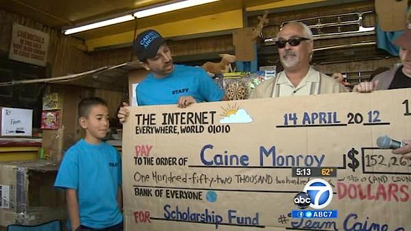 Caine's Arcade boy gets college fund check
