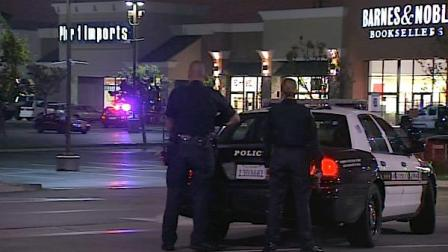 Two robbery suspects believed to be armed barricaded themselves in a Pier 1 Imports store in Manhattan Beach on Sunday, April 22, 2012.