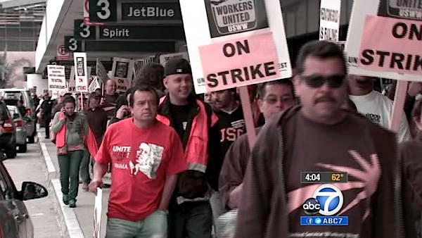 LAX workers protest on May Day